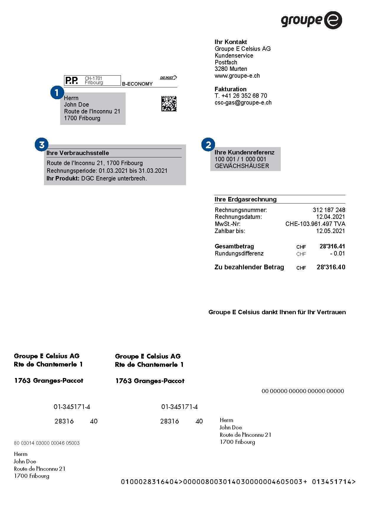 Rechnung - Seite 1