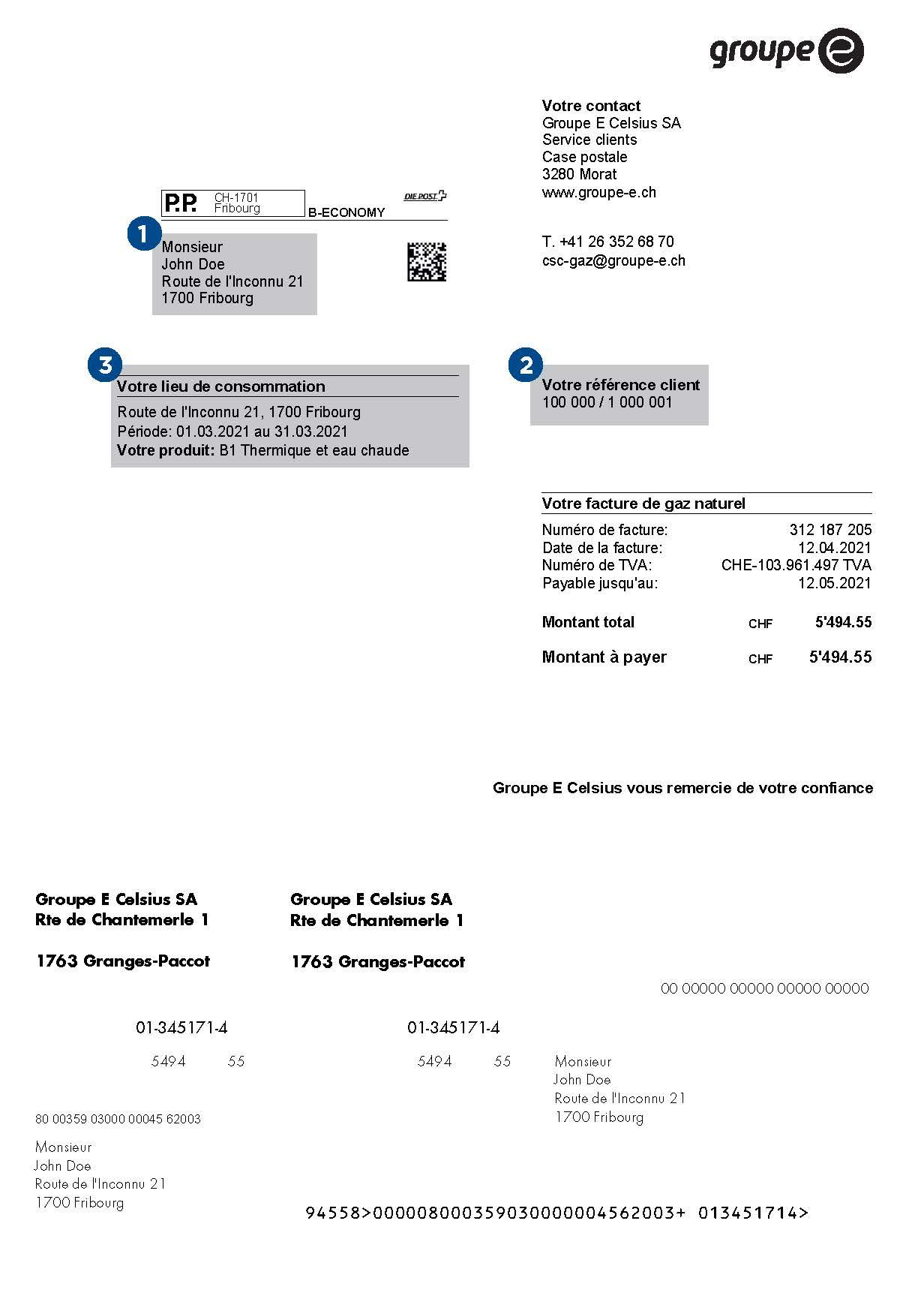 facture animée - page 1